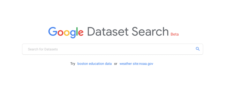 Google Dataset Search Dimensionless Blog