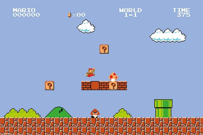 Reinforcement learning with super mario