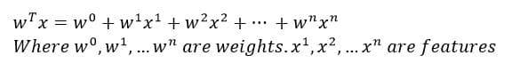 logistic regression fromula
