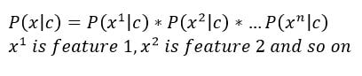 bayes rule with multiple features