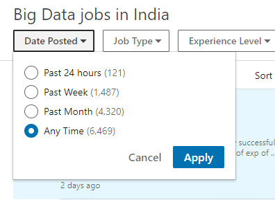 Big data jobs in india