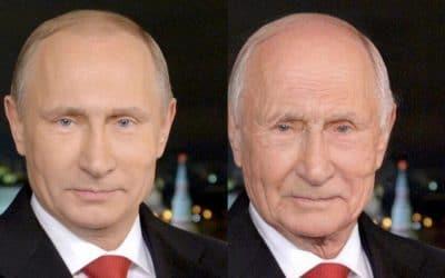 FaceApp prediction of future Vladimir Putin.